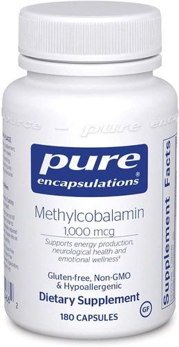 Pure Encapsulations Methylcobalamin Sist Nervioso Sano 180