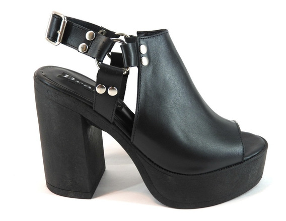 Zapatos Mujer Cuero Sandalias Plataformas Tachas Moda A1265