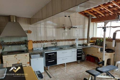 Cobertura Com 3 Dormitórios À Venda, 220 M² Por R$ 563.000,00 - Parque Industriário - Santo André/sp - Co0932