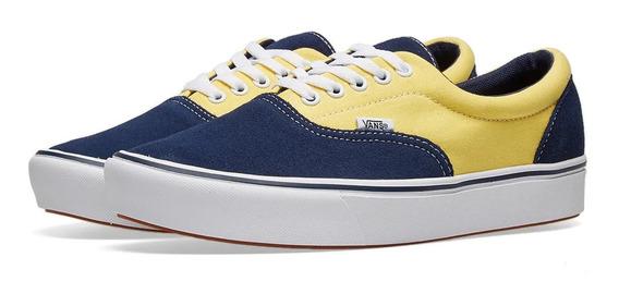 Tenis Vans Original Comfycush Era Lona/suede Azul / Amarillo