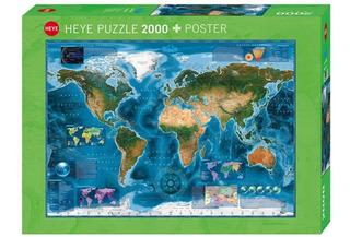 Puzzle 2000pz Satellite Map 29797- Heye 29797