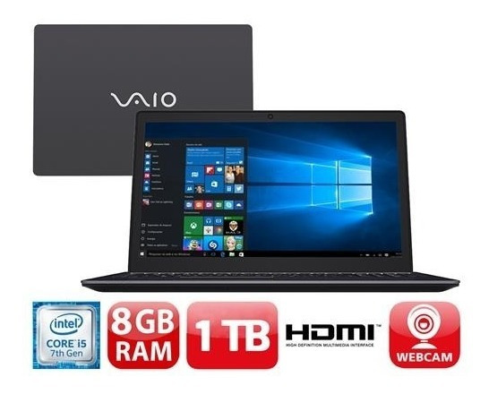 Notebook Vaio Vjf155f11x-b0211b Fit 15s I5-7200u 1tb 8gb 15,