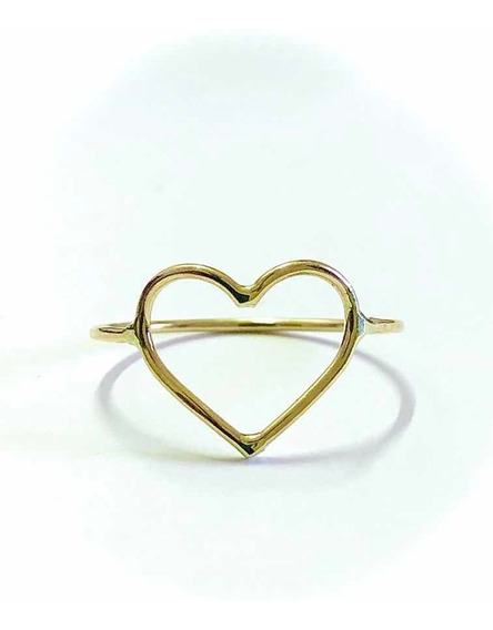 Anel De Coração Oferta Imperdível Ouro 10k 416 Maravilhoso