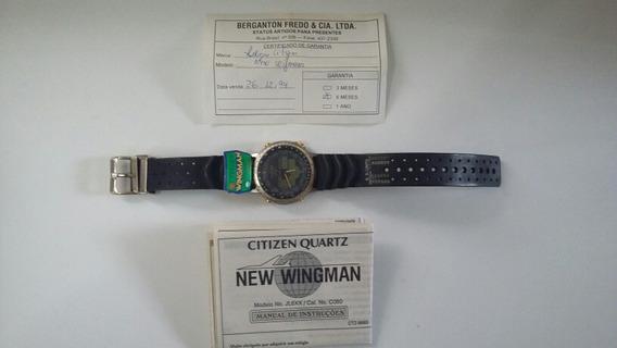 Citizen New Wingman C080 Ouro Perfeito Estado