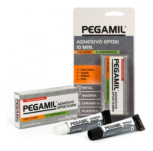 Adhesivo Epoxipegamil Colorgris Acero 21gr. G P