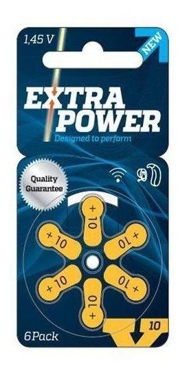 Pilha Ou Bateria Extra Power 10 Para Aparelhos Auditivos