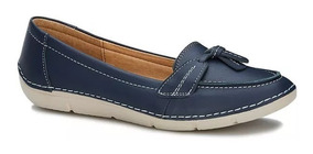 Zapatos Confort Flat Loafer Mujer Azul Marino 2567488