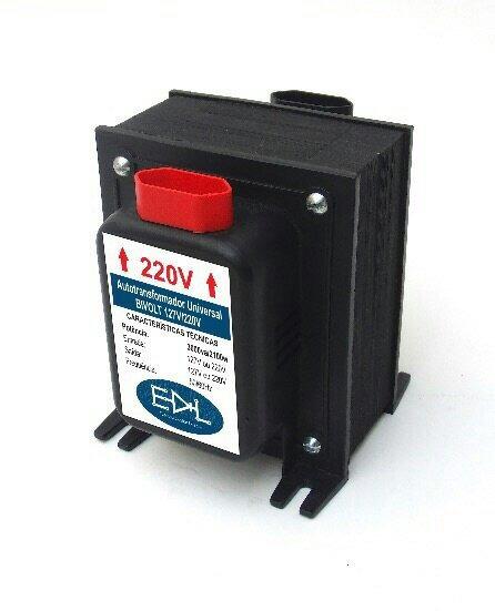 Conversor De Voltagem 110v 220v Secador De Cabelo Até 2000 W