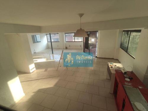 Salão Para Alugar, 130 M² Por R$ 10.000,00/mês - Boqueirão - Praia Grande/sp - Sl0002