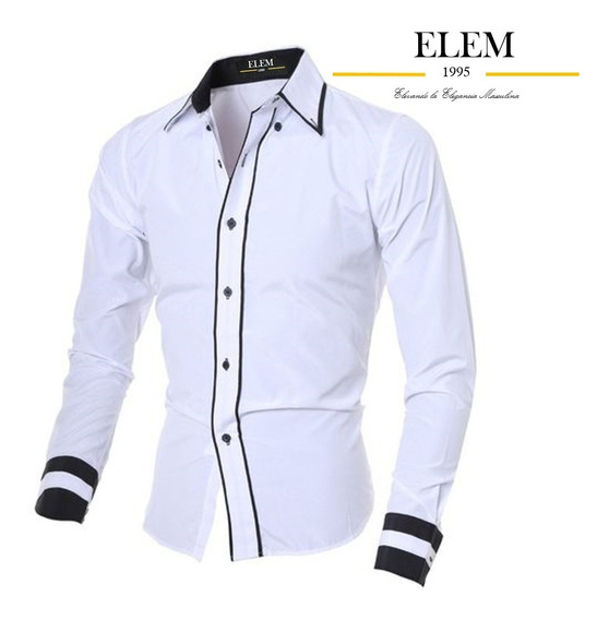 Camisas Sport Hombre Elegante Fit Slim Mod012