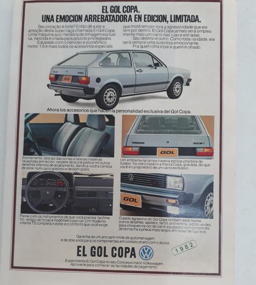 Propaganda Publicidade Anúncio Vw Gol Quadrado 1982