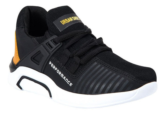 Tenis Casual Niño Urban Shoes 7271 Color Negro