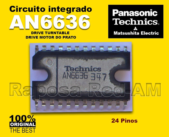 Ci An6636 Driver Do Motor Toca-disco Technics