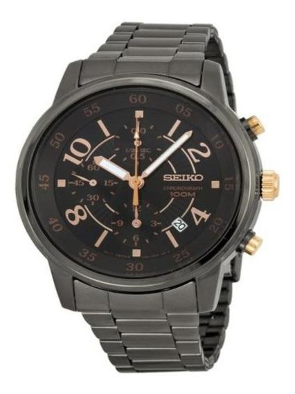 Reloj Seiko Sndw83 Cronografo Multifuncion 100m Fecha Acero