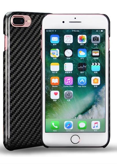 Funda Case Resistente Fibra Carbono Real iPhone 7 8 Plus