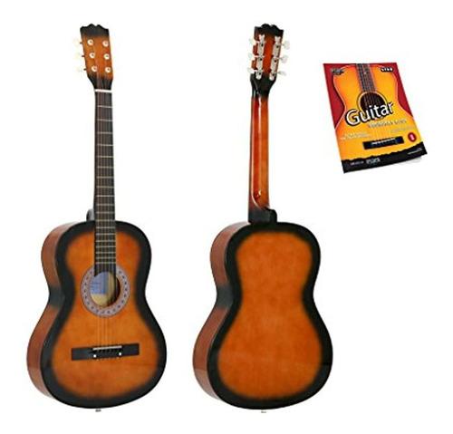 Guitarra Acustica Star 38 Pulgadas Con Guia Para Principia