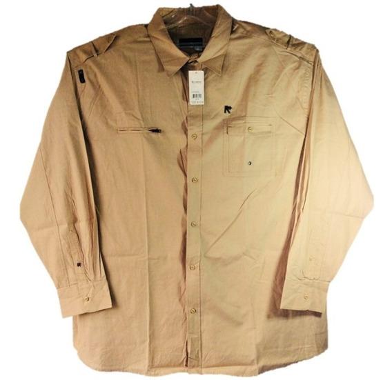 Camisa Casual Trabajo Rocawear Manga Larga Uso Rudo 5xl
