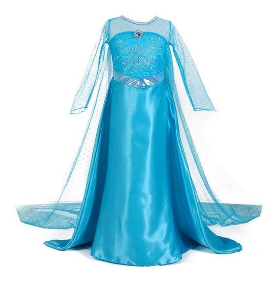 Disfraz Vestido Elsa Frozen Princesa Ana Disney Niña Nina