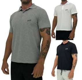 Kit 3 Camisa Polo Casual Mescla Blusa Mxd Piquet Mescla Bran
