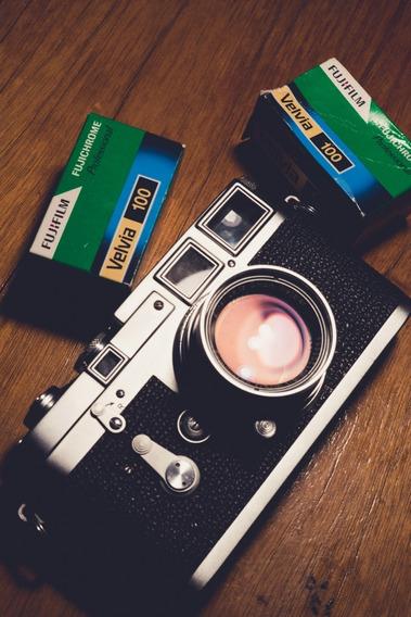 Câmera Leica M3 Com Lente Summicron 50mm, Parasol, Fotômetro