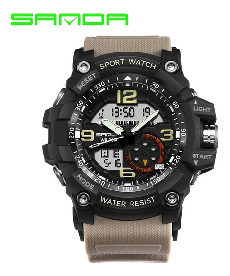 Relógio Modelo G Shock Marca Sanda Código 759 Cor Cáqui