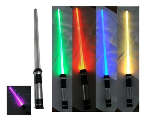 Sable Star Wars Disfraz Juguete Espada Luz Sonido Colores