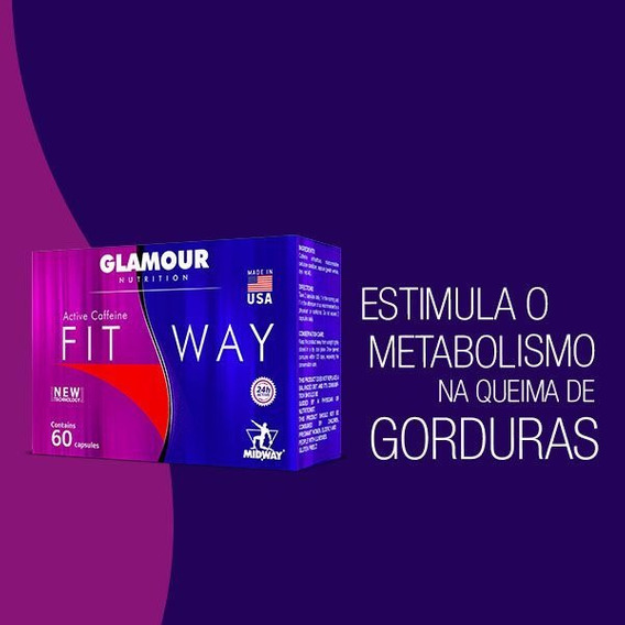 Termogênico Fit Way 60 Cáps - Glamour Nutrition