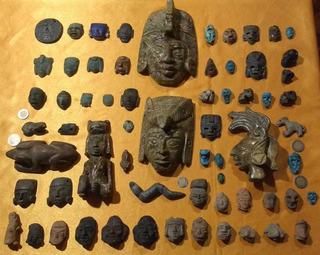 Mascaras Antiguas / 1 Pieza Jade Barro, Lapislázuli A Tratar