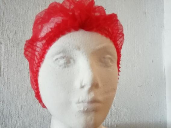 Cofias Desechables Plisada Pq/100 (roja)