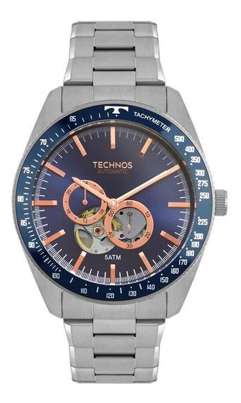 Relógio Technos Masculino Ref: 82s7aa/1a Automático Prateado