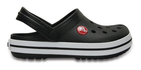 Zuecos Crocs Crocband Neg/bla De Niños