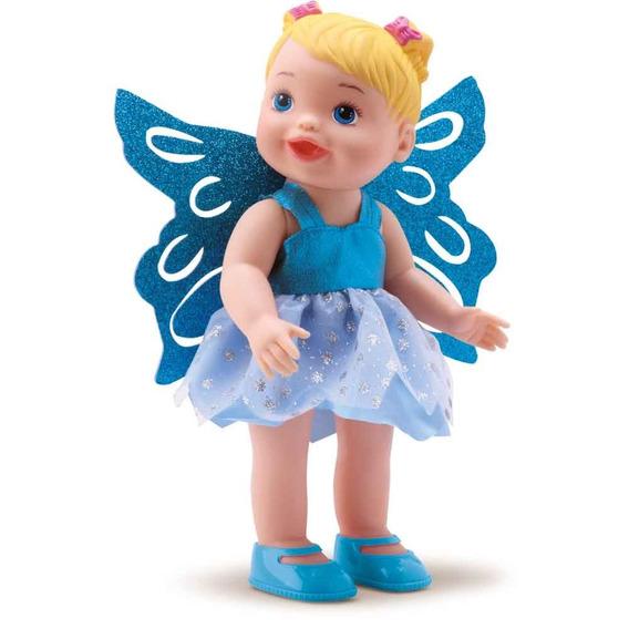 Boneca Fadinha Azul Fada Princesa Divertoys