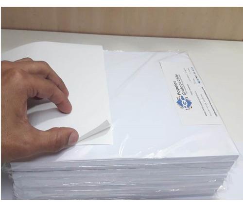 Imagen 1 de 1 de Papel Adhesivo Sin Brillo Tamaño Carta 50hojas