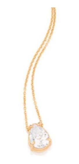 Gargantilha Rommanel Banhado A Ouro Com Pingente 531961