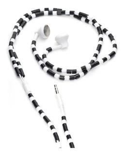 Kikkerland Accesorios Auriculares Perlas Blanco Y Negro
