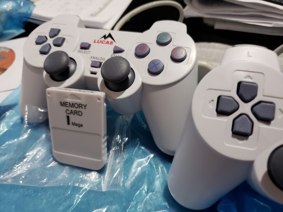 Kit 4 Controles Ps1 + 2 Mcard Ps1 +cabo Av Psone Playstation