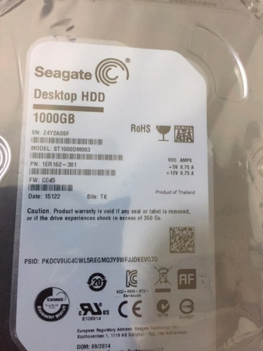 Disco Rígido Interno Seagate Barracuda  1000gb