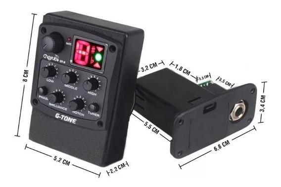 Micrófono Ecualizador Guitarra Acústica Cherub Afinador Gt-3
