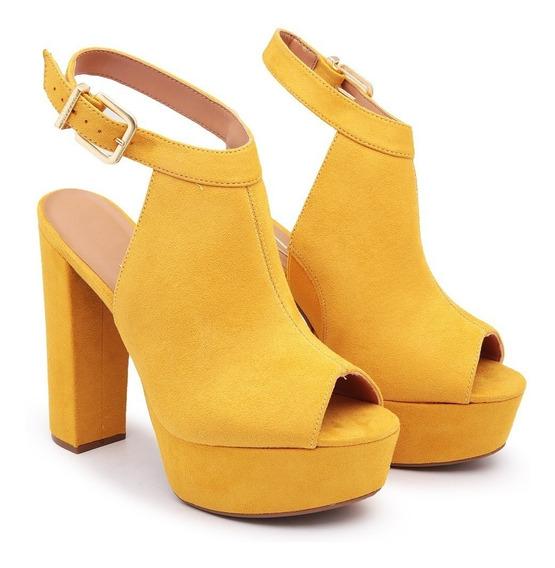 Sandalia Salto Alto Grosso Vizzano Original Leve Confortável
