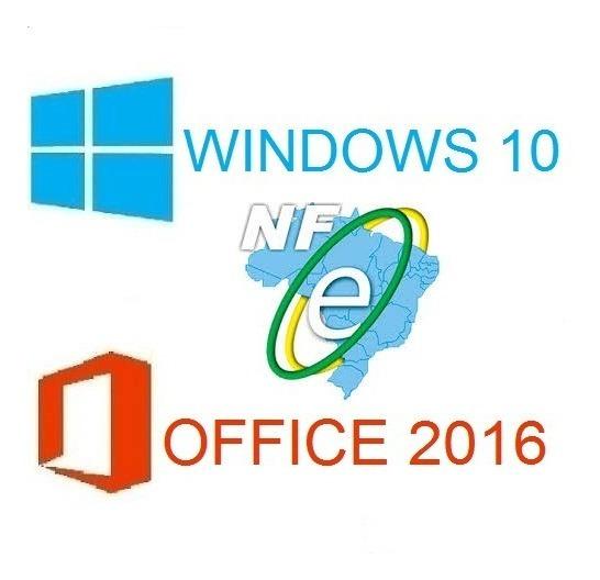 Key Windows 10 Pro Office 2016 Pro Licença Serial + Nf_e