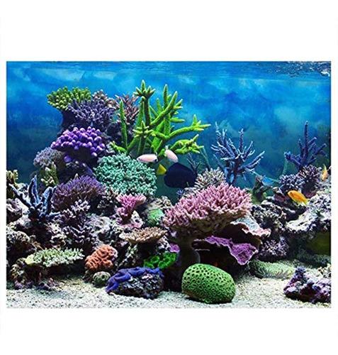 Mumusuki Pvc Adhesivo Submarino Coral Acuario Pecera Fondo C