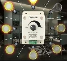 Dimer Controlador Ajustável 12v-24v 8a-regulador De Luz Etc
