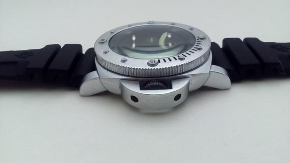 Relógio A Bateria Carbotech Officin Pulseira De Borracha