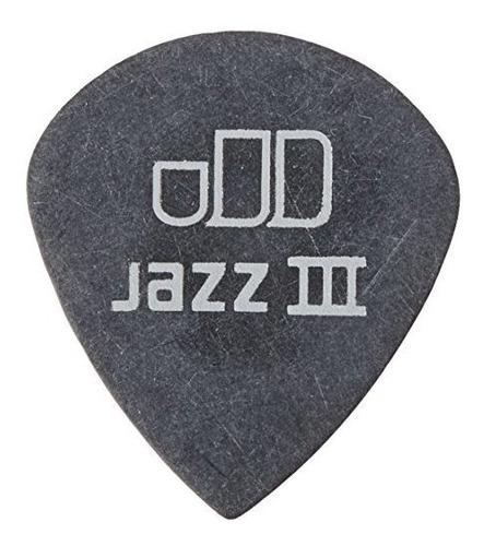 Dunlop 482r1.35 Tortex Pitch Black Jazz Iii, 1.35 Mm, 72 / B