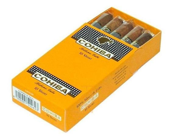 Cohiba Short Habanos Puritos Fumar Cigarros Cubanos Caja X10