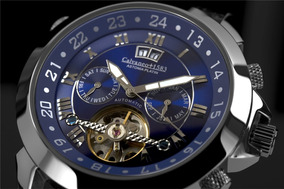 Relógio Calvaneo 1583 Astonia Platin Pacific Automatico