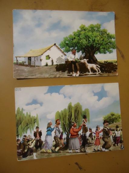 Postales De Molina Campos 2 Pc (sp)
