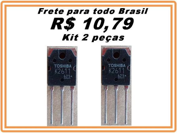 Transistor 2sk2611 K2611 Mosfet Plasma Inex Kit 2 Peças