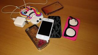 iPhone 4 32gb Anatel Branco Em Perfeito Estado + Capinhas