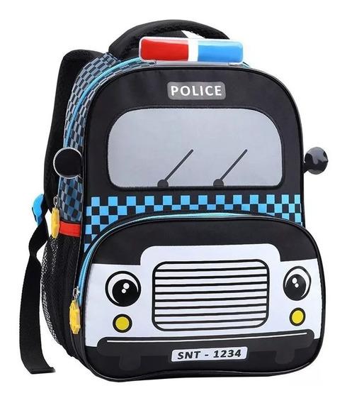 Mochila Infantil Taxi, Polícia, Bombeiros Costas Tam M